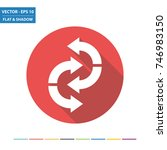 curved arrows flat icon with...   Shutterstock .eps vector #746983150