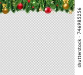christmas border with gradient... | Shutterstock .eps vector #746985256