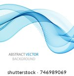 abstract wave on a white... | Shutterstock .eps vector #746989069