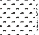 hearse pattern in cartoon style.... | Shutterstock . vector #746990158