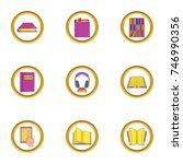library icons set. cartoon set...