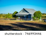 open ranch farm lands large... | Shutterstock . vector #746993446