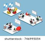 isometric 3d vector... | Shutterstock .eps vector #746995054