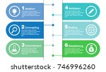 colorful business infographic... | Shutterstock .eps vector #746996260