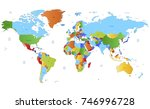 color world map vector | Shutterstock .eps vector #746996728