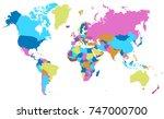 color world map vector | Shutterstock .eps vector #747000700