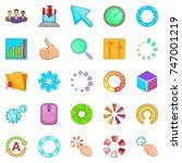 insignia icons set. cartoon set ...