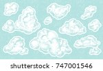 hand drawn vintage engraved... | Shutterstock .eps vector #747001546