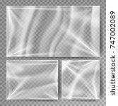 transparent polyethylene vector....   Shutterstock .eps vector #747002089