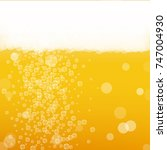 beer background with realistic...   Shutterstock .eps vector #747004930