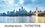 cityscape and skyline of... | Shutterstock . vector #747007558