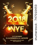 new year evening 2018 party... | Shutterstock .eps vector #747010453