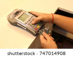 use credit card with credit...   Shutterstock . vector #747014908