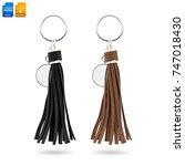 tassel key ring isolated on... | Shutterstock . vector #747018430