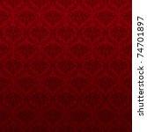 seamless red wallpaper pattern  ... | Shutterstock . vector #74701897