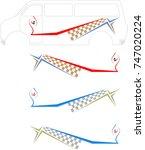 vehicle graphics  stripe  ... | Shutterstock .eps vector #747020224