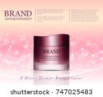 beauty anti aging cream ad.... | Shutterstock .eps vector #747025483