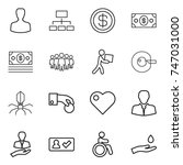 thin line icon set   man ... | Shutterstock .eps vector #747031000