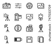 camera and photography icons... | Shutterstock .eps vector #747033709