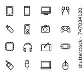 gadget and device icons | Shutterstock .eps vector #747034120