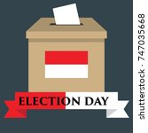 election day in indonesia with...   Shutterstock .eps vector #747035668