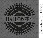 halloween black emblem. vintage.   Shutterstock .eps vector #747037573