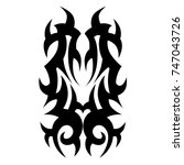 tattoo tribal vector design.... | Shutterstock .eps vector #747043726