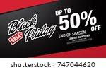 black friday sale banner layout ... | Shutterstock .eps vector #747044620