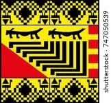 ethnic patterns of native... | Shutterstock .eps vector #747050539