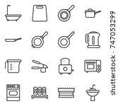 thin line icon set   bath ...   Shutterstock .eps vector #747053299