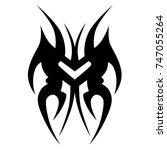 tattoo tribal vector design.... | Shutterstock .eps vector #747055264