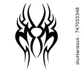 tattoo tribal vector design.... | Shutterstock .eps vector #747055348