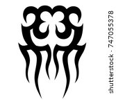 tattoo tribal vector design.... | Shutterstock .eps vector #747055378