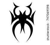 tattoo tribal vector design.... | Shutterstock .eps vector #747069598