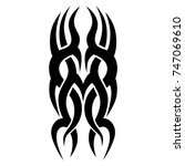tattoo tribal designs. sketched ... | Shutterstock .eps vector #747069610