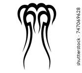 tattoo tribal vector design.... | Shutterstock .eps vector #747069628