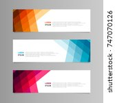 banner design. abstract... | Shutterstock .eps vector #747070126