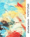 bright artistic splashes on... | Shutterstock . vector #747071560