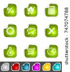 modern set of design elements.... | Shutterstock . vector #747074788