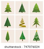 set of different  vector... | Shutterstock .eps vector #747076024