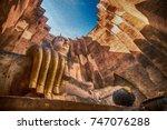big buddha wat sri chum in... | Shutterstock . vector #747076288