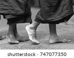monks' feet | Shutterstock . vector #747077350
