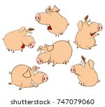 set  vector cartoon...   Shutterstock .eps vector #747079060