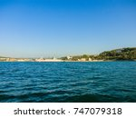 military navy ships in a sea... | Shutterstock . vector #747079318