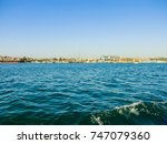 military navy ships in a sea... | Shutterstock . vector #747079360