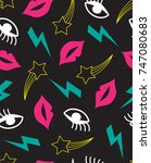 Seamless Pattern With Mouth ...