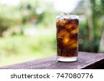 beverage from cola in glass... | Shutterstock . vector #747080776