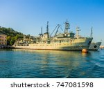 military navy ships in a sea... | Shutterstock . vector #747081598