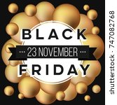 abstract vector black friday... | Shutterstock .eps vector #747082768