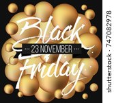 abstract vector black friday... | Shutterstock .eps vector #747082978